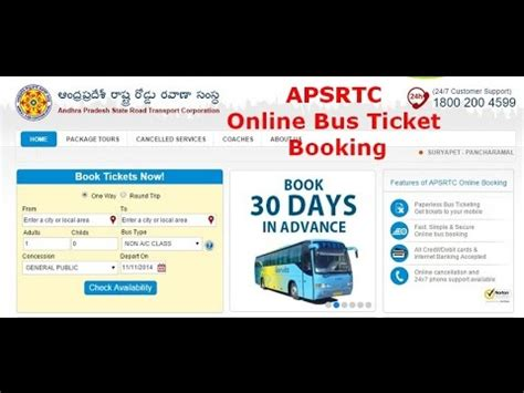 picture ticket booking apsrtc ticket booking and checking reservation