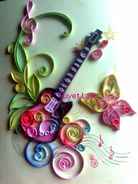 paper quilling craft quill guitar paper quilling craft