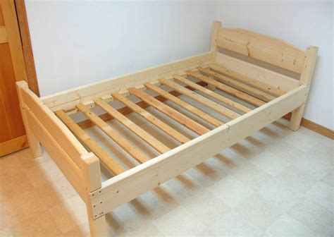 wood bed frame construction building a bed