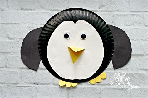 penguin paper plate craft paper plate penguin craft