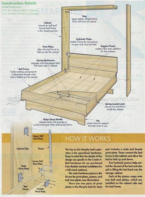 murphy bed woodworking plans woodworking plans murphy bed with creative creativity