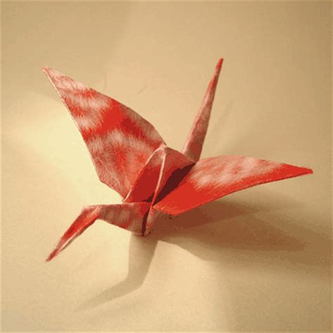 crane bird origami paper bird how to make a crane origami papermodeler