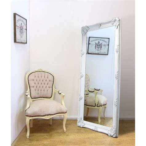 large shabby chic mirror white large length shabby chic vintage leaner mirror