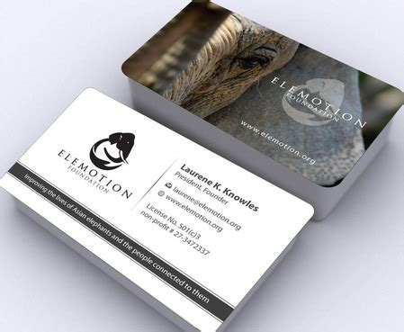 cards for profit business cards for modern animal non profit organization