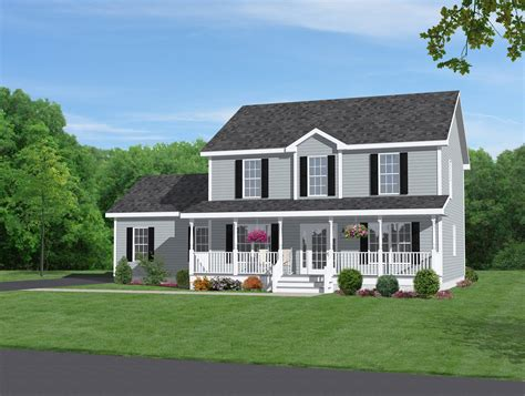 house plans front porch 15 harmonious two story house plans with front porch