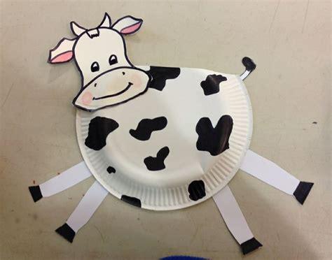 paper plate cow craft paper plate cow craft kraftivities 4