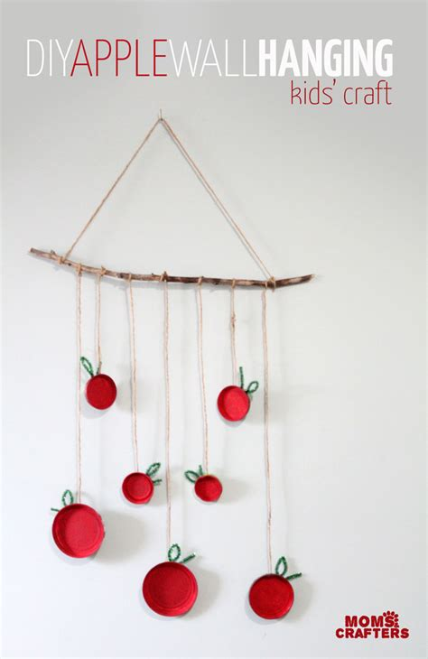 hanging craft projects apple craft for make an apple wall hanging