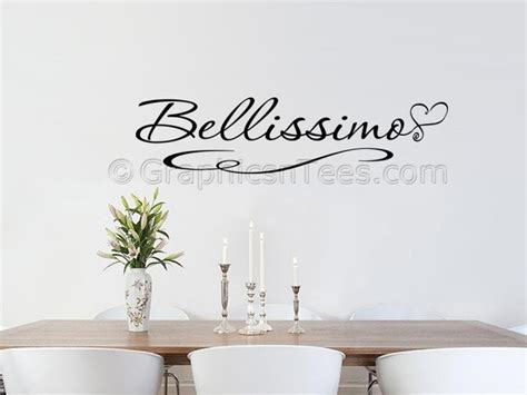 kitchen wall quote stickers bellissimo kitchen wall sticker quote dining room wall decal