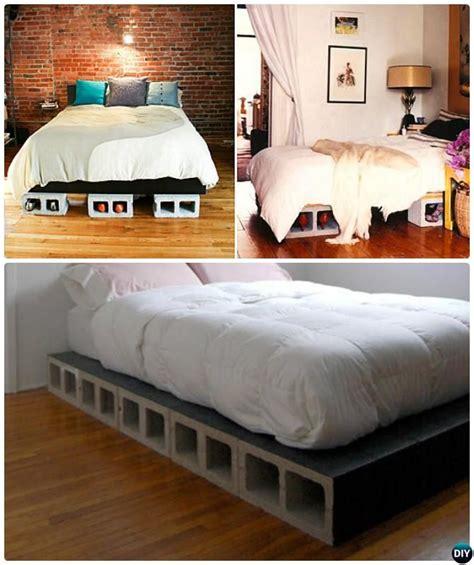 concrete block bed frame concrete block bed frame bed frame of cinder blocks bed