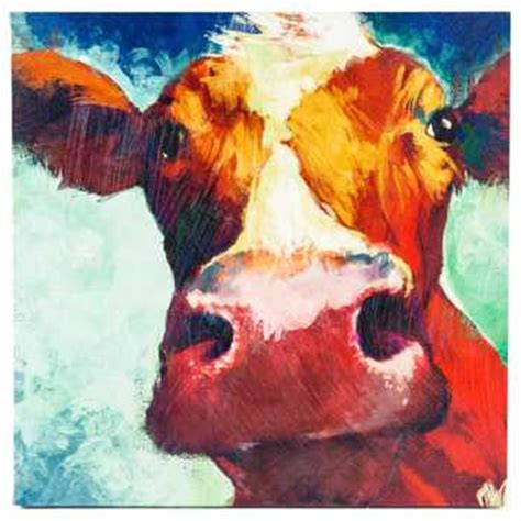 How To Draw A Pig Standing Up by Big Cow Canvas Wall Decor Hobby Lobby 962910