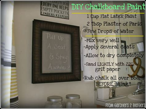 diy chalk paint using plaster of from gardners 2 bergers 3 chalkboard projects diy