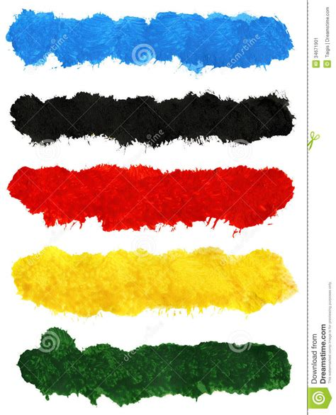 acrylic painting no brush strokes colorful acrylic brush strokes stock image image 34671901