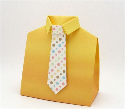 origami shirt box box template shirt and tie s day diy foldable