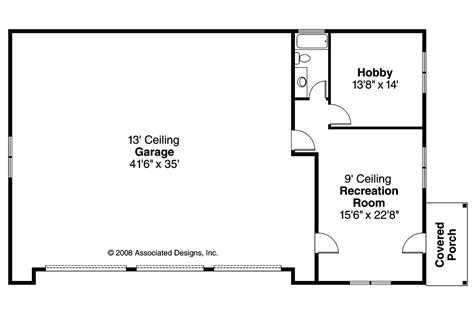 garage floor plan craftsman house plans rv garage w living 20 042