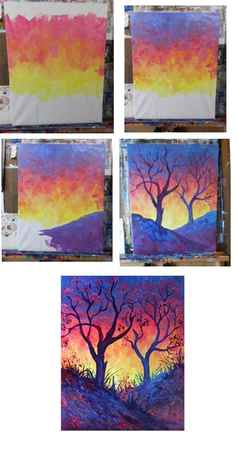 acrylic painting step by step tutorial 272 best images about cards with silhouettes on