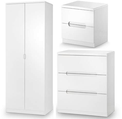 high gloss bedroom furniture white abdabs furniture manhattan high gloss white trio bedroom set