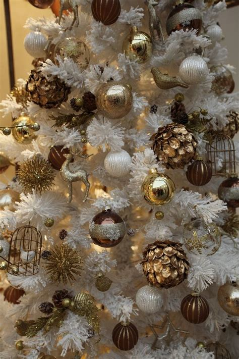 gold and brown tree decorations these are my favorite colors they capture the