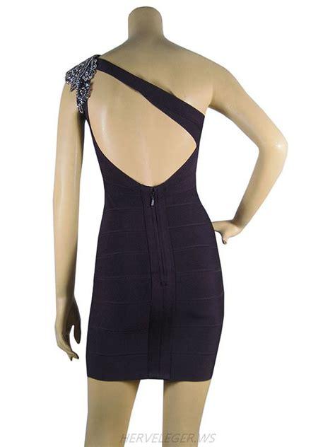 beaded bandage dress herve leger one shoulder multicolor beaded bandage dress