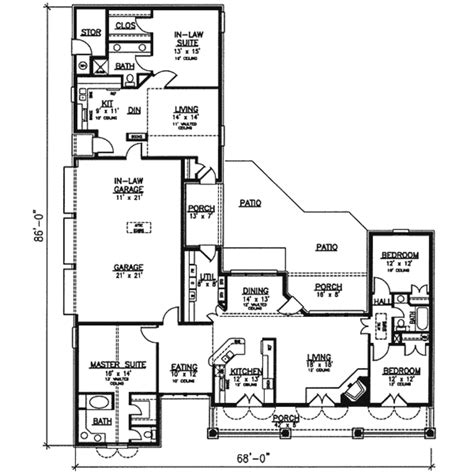 house plans 2400 square southern style house plan 4 beds 3 baths 2400 sq ft plan