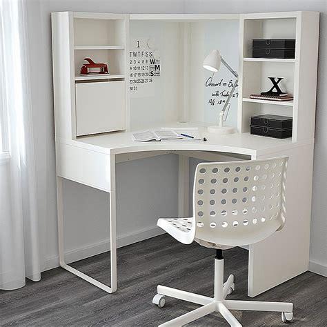 ikea micke corner workstation corner desk white