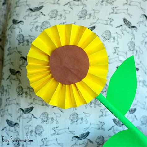 simple paper crafts for sunflower paper craft idea easy peasy and
