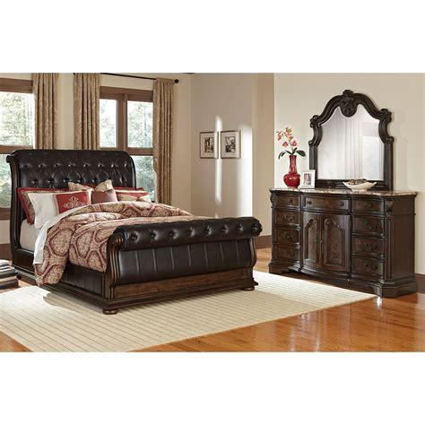Monticello Pecan Ii 5 Pc King Bedroom Value City Furniture Pulaski Bedroom Sets