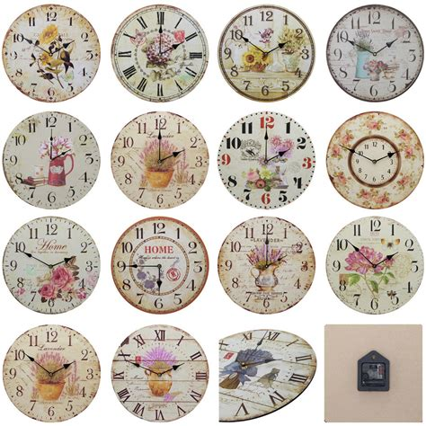 shabby chic large wall clocks shabby chic large 34cm thin distressed rustic wall clock