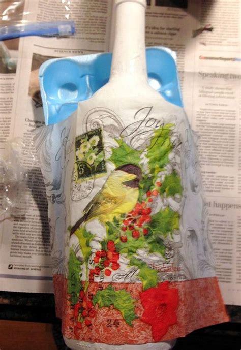 best decoupage how to decoupage napkins on jar with snow