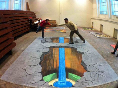 chalk paint uruguay now on streetpainting tv 4d painting 3d