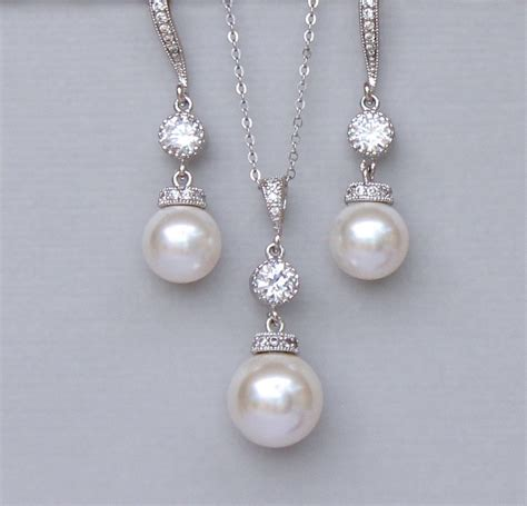 pearl for jewelry ivory pearl bridal jewelry set pearl jewelry set pearl