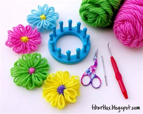 how to knit a flower on a loom fiber flux how to make a loom flower