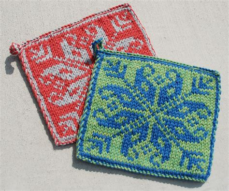 knit potholder pattern knitting boutique knitter me
