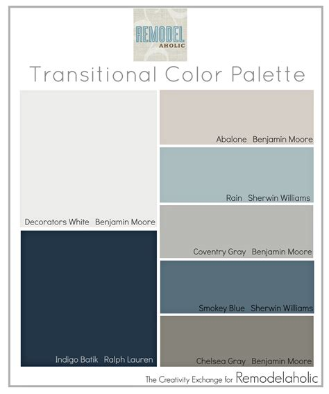 paint colors gray tones remodelaholic transitional paint color palette