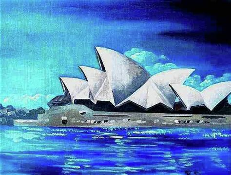 acrylic paint sydney sydney opera house i painting by yelena revis