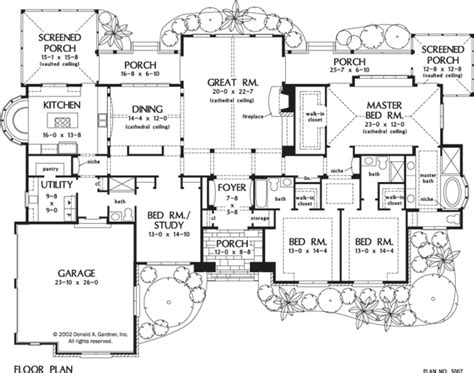floor plans for one story homes luxury home plans archives page 2 of 5 houseplansblog