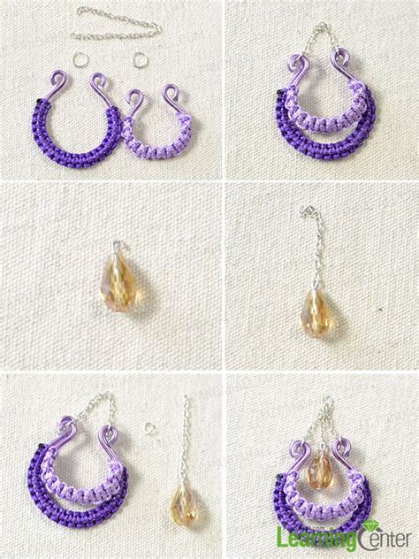 step by step how to make american beaded earrings how to make thread chandelier earrings