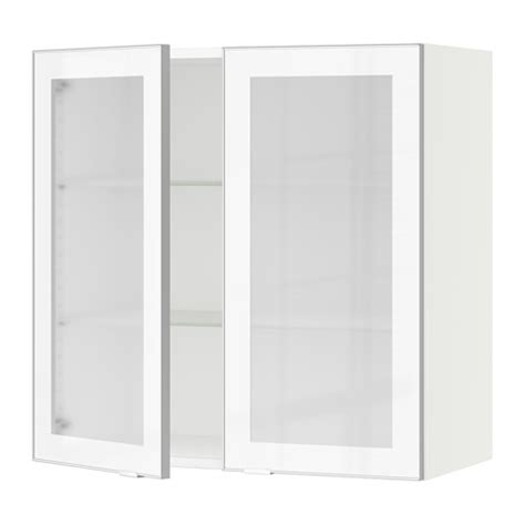 white glass kitchen cabinet doors sektion wall cabinet with 2 glass doors white jutis