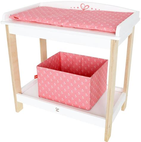 doll changing tables hape baby doll wooden changing table pretend parent play