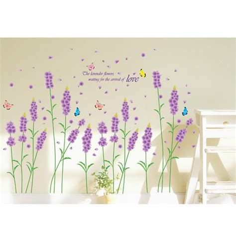 purple wall stickers removable purple lavender wall sticker home decor