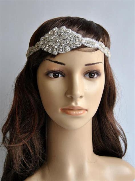 beaded flapper headpiece rhinestone 1920s headpiece flapper headpiece 1920s