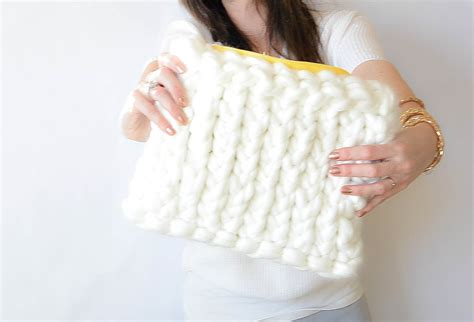 knitting patterns for larger yarn quot plush knit bag quot pattern in a stitch