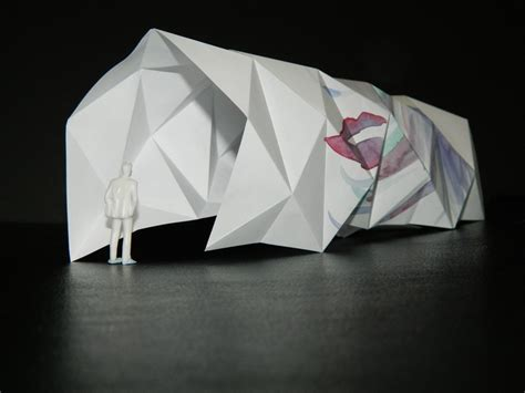 origami interior design an origami model that explores creating repetitive angles