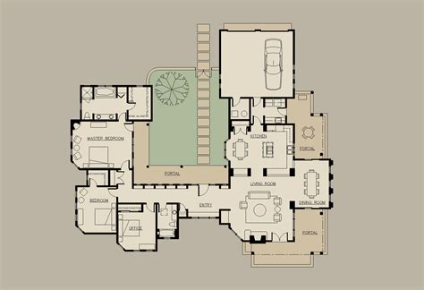 floor plans with courtyard american ranch house allegretti architects santa fe new mexico