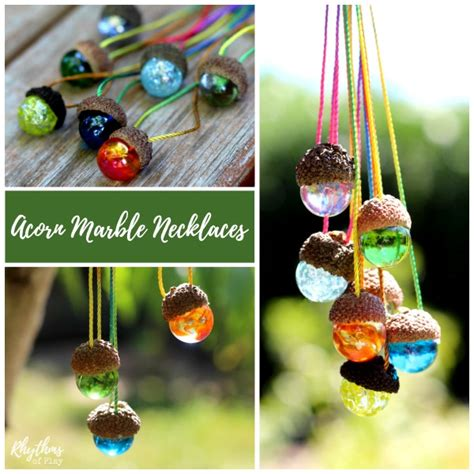 acorn craft projects acorn craft ideas marble necklace nature crafts and