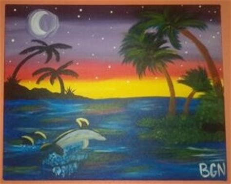 paint with a twist friendswood painting with a twist sunset dolphin and diy