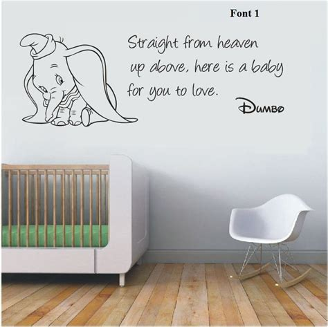 disney nursery wall decals wall stickers dumbo the elephant from heaven