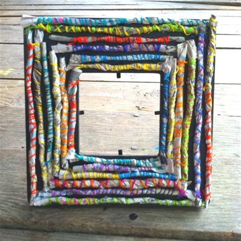 paper craft frames paper on recycled magazines newspaper and
