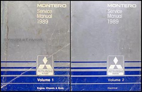 1989 mitsubishi mirage repair shop manual set original 1989 mitsubishi montero repair shop manual set original