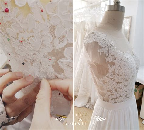 how to sew onto lace design your own wedding dress gorgeous customized