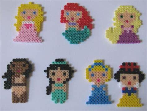 perler bead disney disney princesses made from perler pixy me